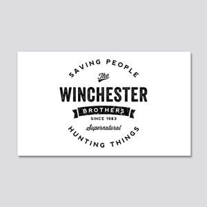 SUPERNATURAL Winchester Bros blac 20x12 Wall Decal
