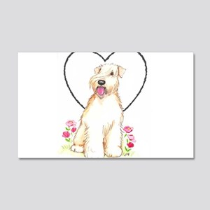 Soft Coated Wheaten Terrier 20x12 Wall Decal