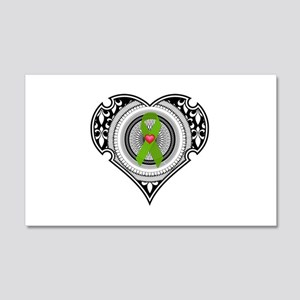 Kidney heart 20x12 Wall Decal