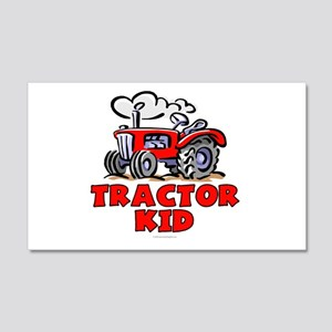 Red Tractor Kid 20x12 Wall Decal
