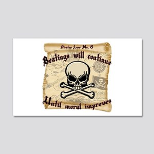 Pirates Law #8 20x12 Wall Decal