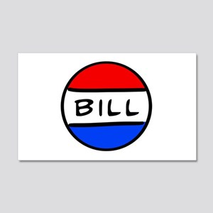 Bill Button 22x14 Wall Peel