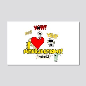 I Heart Interjections 22x14 Wall Peel