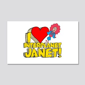 I Heart Interplanet Janet! 22x14 Wall Peel