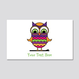 Customizable Whimsical Owl 20x12 Wall Decal