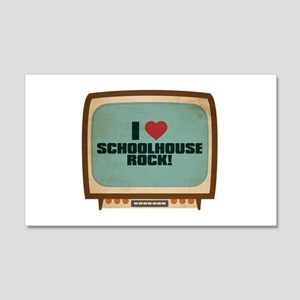 Retro I Heart Schoolhouse Rock! 22x14 Wall Peel