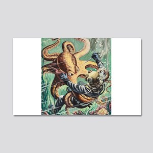 Diver vs Octopus Wall Decal