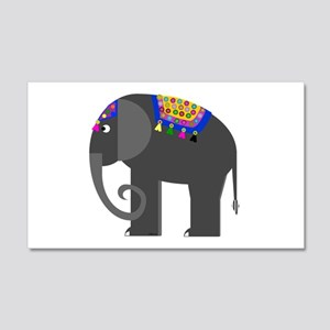 Indian Elephant 20x12 Wall Decal