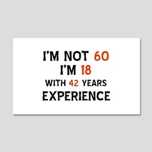60 year old designs 20x12 Wall Decal