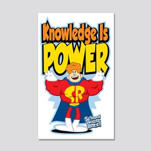Knowledge-Is-Power 20x12 Wall Decal