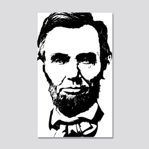 Abe Lincoln Silhouette 20x12 Wall Decal