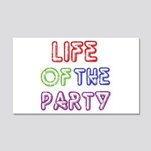 Life of the Party 22x14 Wall Peel