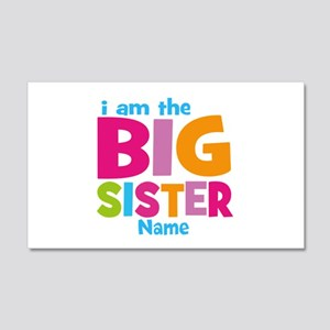 Big Sister Personalized 20x12 Wall Decal