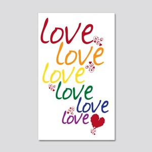 love is love2 20x12 Wall Decal
