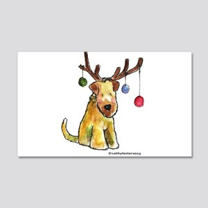 Wheaten terrier with Christmas Antlers 20x12 Wall