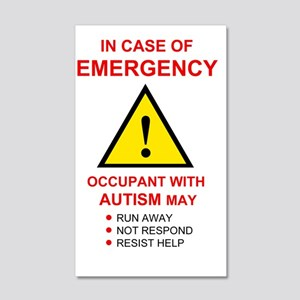 autism warning for home 20x12 Wall Decal