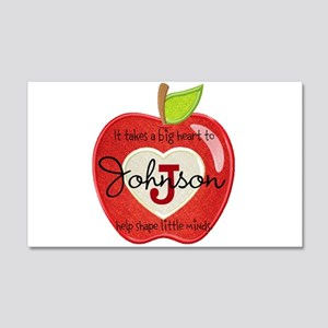 Teacher Personalize Initial:name: 20x12 Wall Decal
