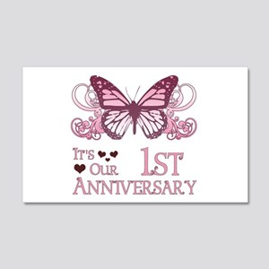 1st Wedding Aniversary (Butterfly) 20x12 Wall Deca