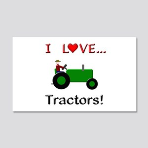I Love Green Tractors 20x12 Wall Decal