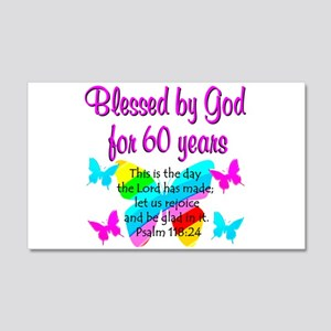 REJOICING 60TH 20x12 Wall Decal