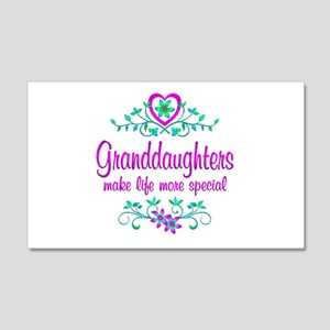 Special Granddaughter 20x12 Wall Decal