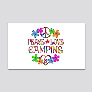 Peace Love Camping 20x12 Wall Decal