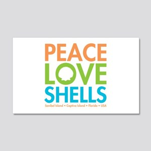 Peace-Love-Shells 20x12 Wall Decal
