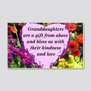 GRANDDAUGHTER 20x12 Wall Decal