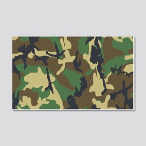 Woodland Camouflage Wall Decal