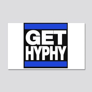 get hyphy lg blue Wall Decal