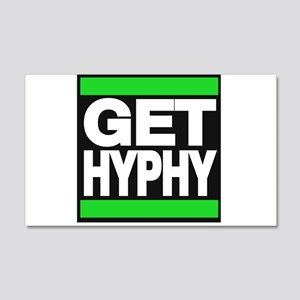 get hyphy lg green Wall Decal