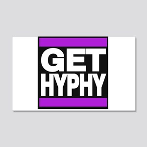 get hyphy lg purple Wall Decal