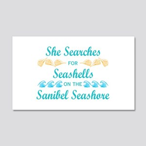 Sanibel shelling 20x12 Wall Decal