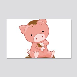 Pig in Mud Wall Decal