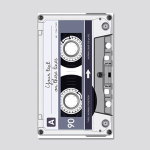 Customizable Cassette Tape - Grey 20x12 Wall Decal