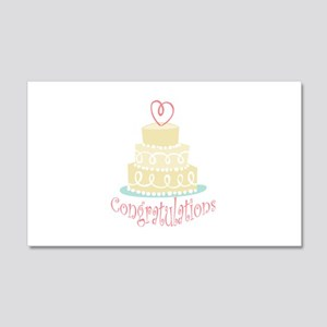 Congratulations Cake Wall Decal