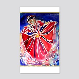 Fiesta Dancer, bright, art, 22x14 Wall Peel