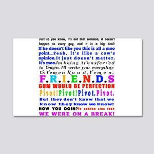 Friends Quotations 20x12 Wall Decal