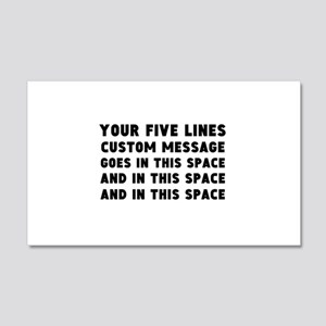 Five Lines Text Customized 20x12 Wall Decal