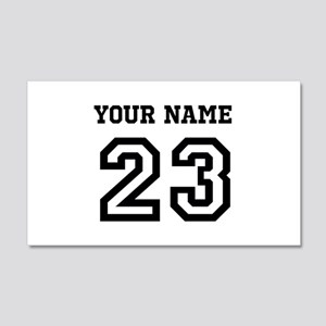 Personalize Sports Jersey 20x12 Wall Decal