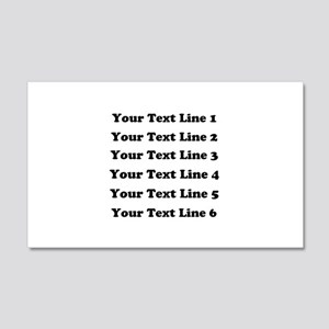 Customize Six Lines Text 20x12 Wall Decal