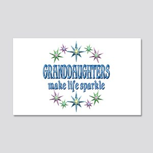 Granddaughters Sparkle 20x12 Wall Decal