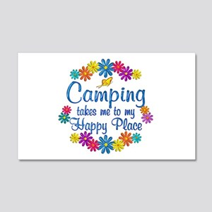 Camping Happy Place 20x12 Wall Decal