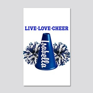 Cheerleader Personalize 20x12 Wall Decal