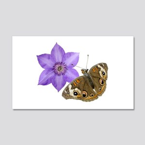 Squirrel Butterfly Flower 20x12 Wall Decal