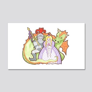 Knight, Princess And Dragon Wall Decal