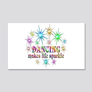 Dancing Sparkles 20x12 Wall Decal
