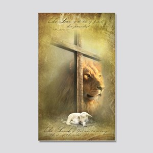 The Lion and the Lamb 20x12 Wall Decal