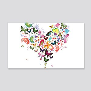 Heart of Butterflies Wall Decal