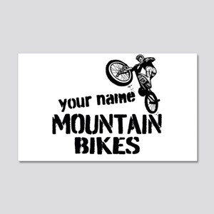 Custom Mountain Bikes Wall Decal